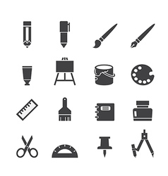 Stationery icon vector