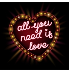 All you need is love frame vector