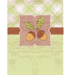 vintage autumn pattern vector image