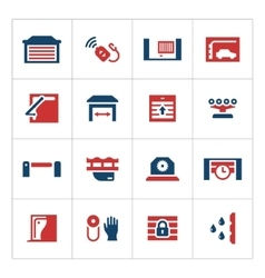 Set color icons of automatic gates vector