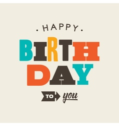 Birthday card letterpress vector