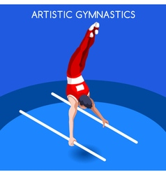 Gymnastics parallel bars 2016 summer games 3d vector