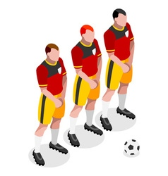 Soccer barrier 2016 sports 3d isometric vector