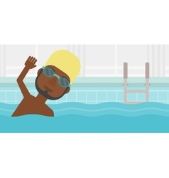 Man swimming in pool vector