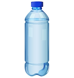 A transparent bottle vector