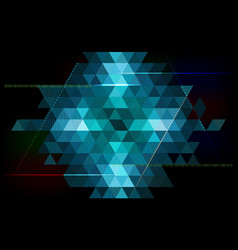 abstract triangle background - technology vector image vector image