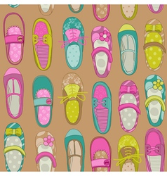 Baby Girl Shoes Background vector image vector image