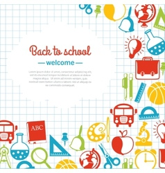 back to school background for school vector image vector image