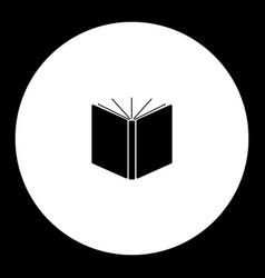 big open book simple black icon eps10 vector image