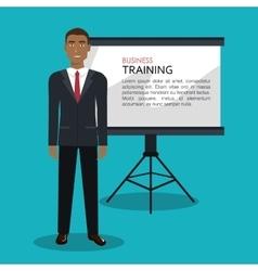 Businessman training processisolated icon design vector image