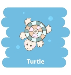 Cartoon cute turtle vector image