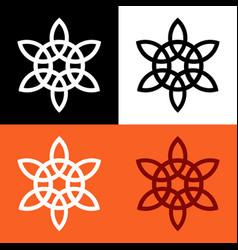 Celtic knot symbol vector