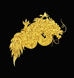 Chinese gold dragon vector