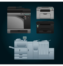 Color printer vector