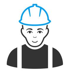 Contractor flat icon vector