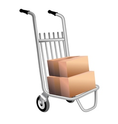 Courier trolley vector