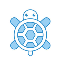 cute turtle isolated icon vector image