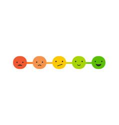 emoticons scale survey - feedback concept design vector image