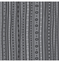 Ethnic ornate seamless pattern grey background vector