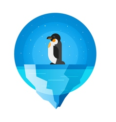 flat style of penguin vector image vector image