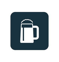 glass of beer icon Rounded squares button vector image vector image