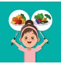 Healthy food related icons image vector