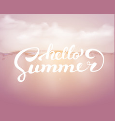 Hello summer on the sea backgraund brush vector