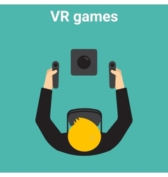 Home gaming in virtual reality vector