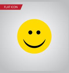 isolated smile flat icon joy element can vector image vector image