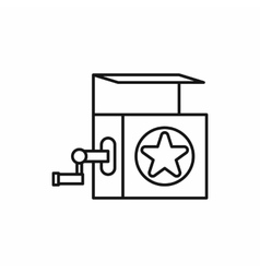 Jack in the box toy icon outline style vector