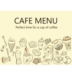 Menu cafe coffee drinks banner vector
