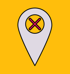 Navigation geolocation icon in flat design on vector