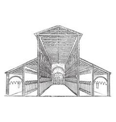 Old st peters basilica vintage engraving vector