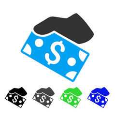 pay cash flat icon vector image