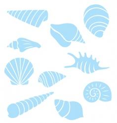 Sea shell collection vector