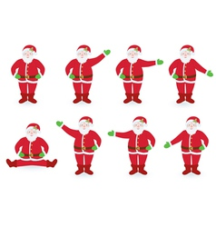 Set of pointing santa clauses vector