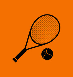 tennis rocket and ball icon vector image vector image