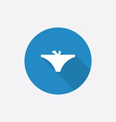 underwear Flat Blue Simple Icon with long shadow vector image