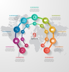 Abstract circle infographic 09 options vector