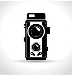 Vintage photography camera design graphic vector