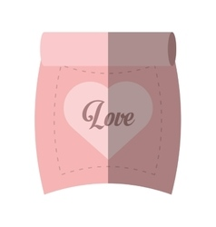 Love parchment message heart pink shadow vector