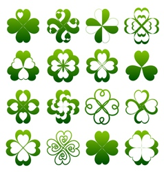Abstract clover symbol set vector