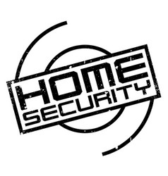 Home security rubber stamp vector