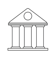 University building style temple thin line vector