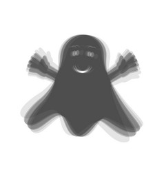 Ghost isolated sign  gray icon shaked at vector