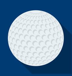 Golf ballgolf club single icon in flat style vector