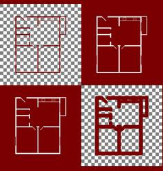 Apartment house floor plans bordo and vector
