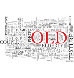 Old word cloud concept vector