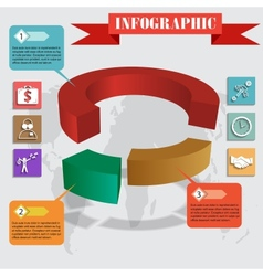 infographics pie for web and mobile vector image