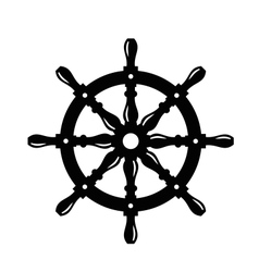 ship steering wheel vector image